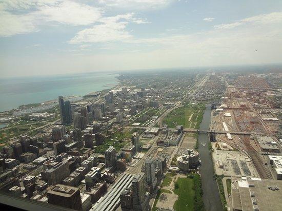 Skydeck Chicago - Willis Tower: vista hacia el sur de la ciudad