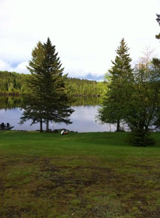 Hunter Cove Cabins on Rangeley Lake: The view of Rangeley Lake from our cabin.