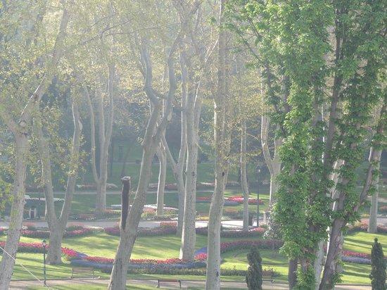 Gulhane Park Hotel : vista desde la ventana de la habitación hacia el parque