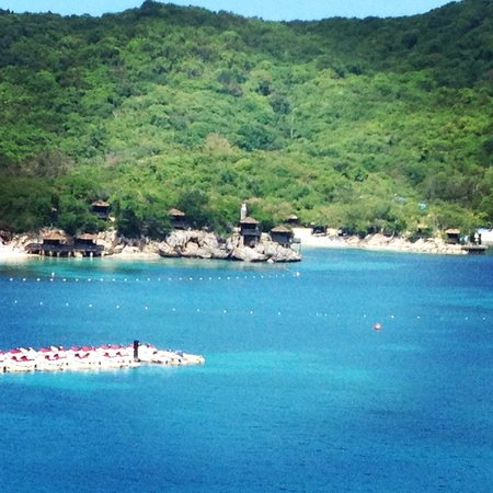Labadee: View of our cabana from our cabin's balcony.