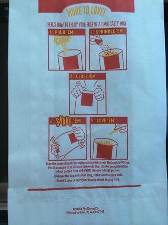 McDonald's: Instructions - really!