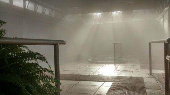 Aguasol Apart Hotel: área interna às piscinas térmicas