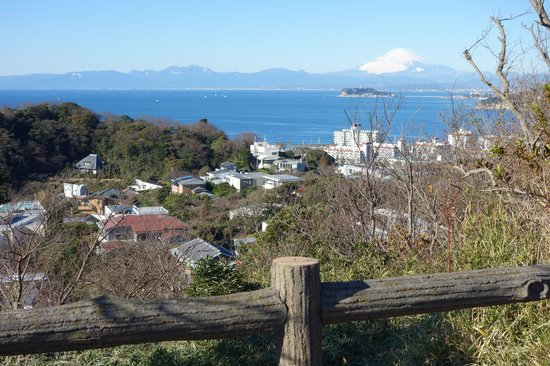 Hiroyama Park: 富士山、江の島、逗子マリーナ、披露山庭園住宅