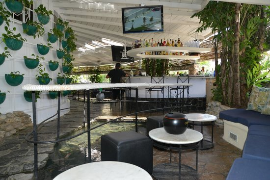 La Fontana Havana : Bar and Lounge Patio Over Fishpond Around 4pm. All natural sunlight.