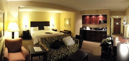 Hampton Inn Staunton : Huge room! Very Comfortable! Tons of counter space!