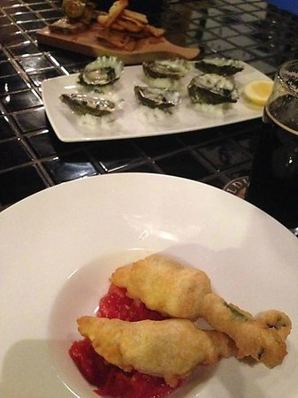 Royal George Hotel: Zucchini Flowers & Oysters