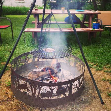 Tierra Linda Bed and Breakfast: Our relaxing campfire