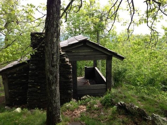 Floyd, VA: Appalachian Trail Hut on the Shoulder of Rocky Knob