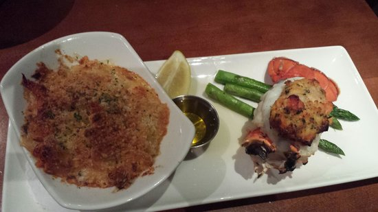 Columbus Fish Market: Stuffed lobster tail and Lobster mac and cheese