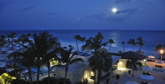 Bucuti & Tara Beach Resort Aruba : Moonlight in early morning, from balcony, Bucuti & Tara Beach Resorts Aruba
