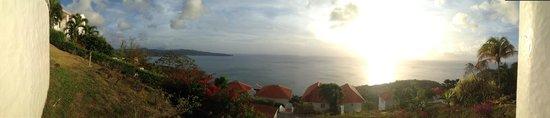 Windjammer Landing Villa Beach Resort: View from the hill