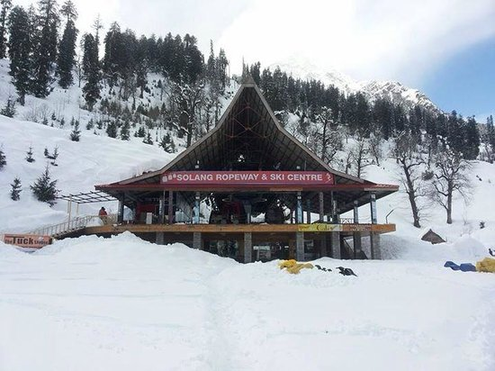 Solang-Nullah : In snow