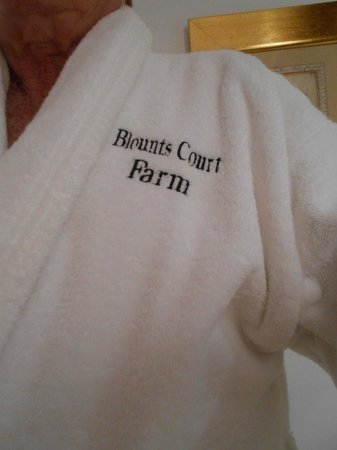 Blounts Court Farm: Robe with name