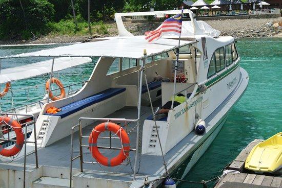Tunamaya Beach & Spa Resort : shuttle boat