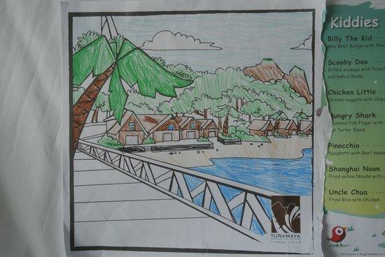Tunamaya Beach & Spa Resort - Tioman Island: paper table mat