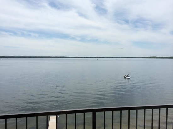 Holiday Inn Detroit Lakes: view from our balcony