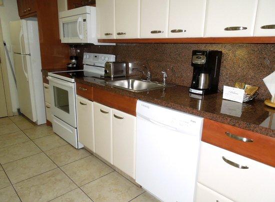 Flamingo Beach Resort: Full kitchen, everything worked
