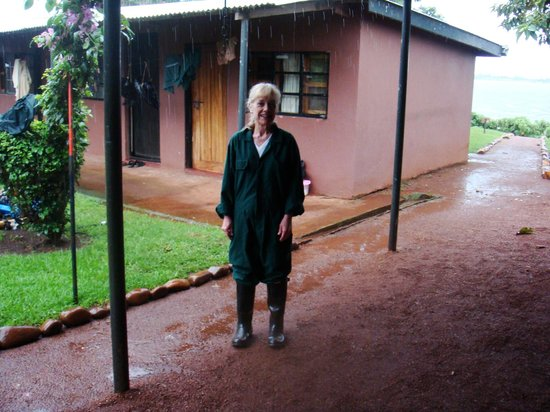 Ngamba Island Tented Camp: Caregiver for a day - even in a full rainstorm