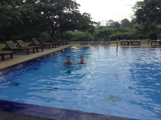 Kassapa Lions Rock: Never too early for a swim!