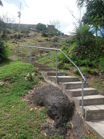 Fort Louis: The stairs to the fort