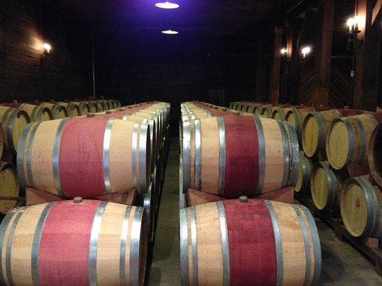 Trefethen Family Vineyards: Reused oak barrels