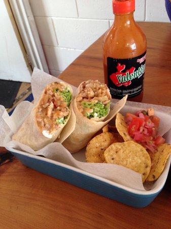 El cafe burrito with chicken.  Do it.
