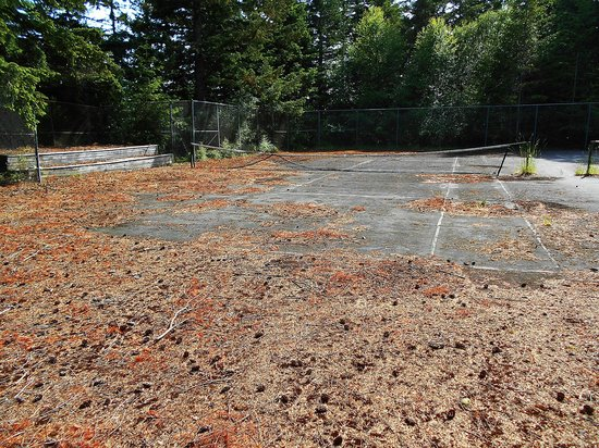 Rosario Resort and Spa : The tennis courts are obviously dilapidated