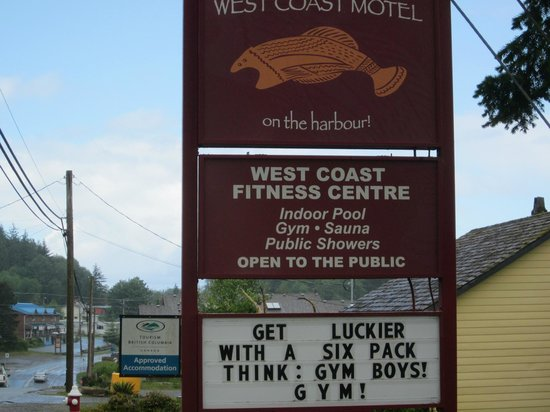 West Coast Motel on the Harbour: Get your fitness on boys!