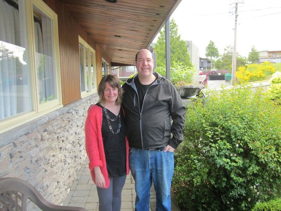 West Coast Motel on the Harbour: Brenda(Owner) and Me