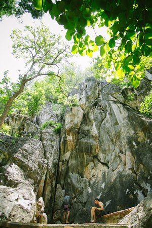Boomerang Rock Climbing and Adventure Park: One of the rock faces you can climb