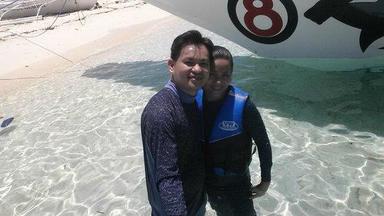 AABANA Beach & Watersport Resort Malapascua: Before a swim