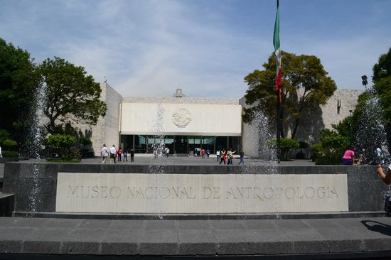 Musée national d'anthropologie de Mexico : Fachada del museo