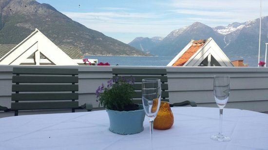 Utne Hotel: View from the terrace