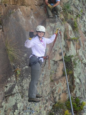 Natura Vive: Crossing on a wire -- definitely my scariest moment!