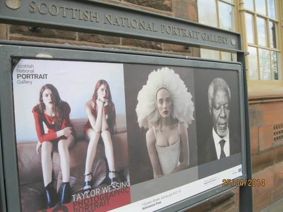 Scottish National Portrait Gallery: Advertising the photography exhibition
