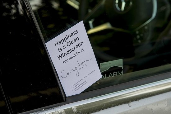 Congham Hall Hotel & Spa: Pleasant Surprise. Someone washed the car windows.