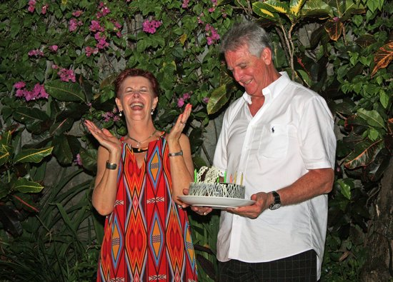 The Villas Bali Hotel & Spa: Birthday cake - surprise