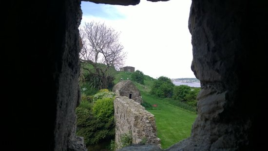 Inchcolm Abbey and Island: Window view. :)