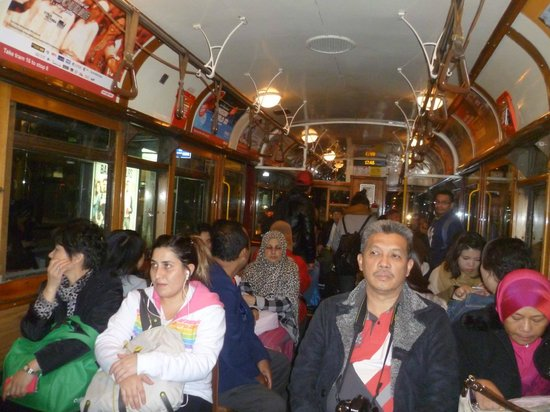 Inside the City Circle Tram