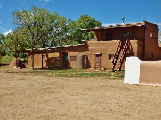 Taos Pueblo: Double story with outside access to top level