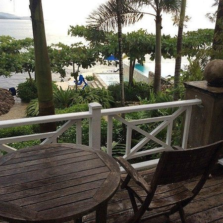 Round Hill Hotel & Villas: our patio and view