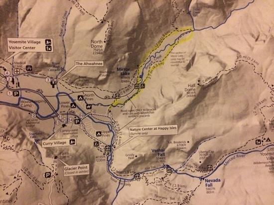 Mirror Lake/Meadow Trail: only did the mirror lake loop, did not do tenaya creek loop