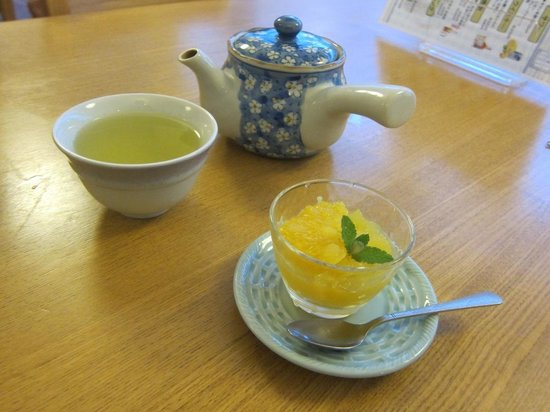 Zennoyu: Sorbet for desert made with local citrus: fabulous