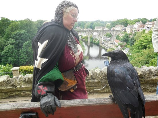 Knaresborough Castle: Very interesting talk by raven lady