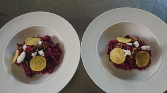 The Watersedge Restaurant: Beetroot Risotto