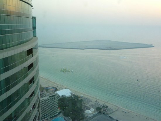 JA Oasis Beach Tower: View from lounge looking out across the Beach area - Level 43