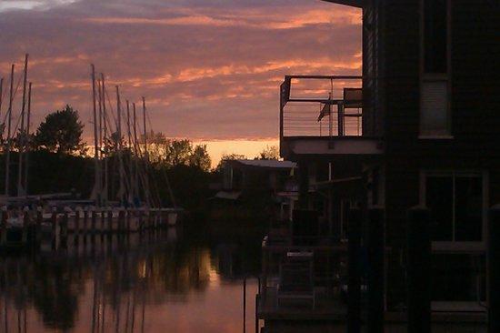 Im-Jaich Wasserferienwelt: Sonnenuntergang