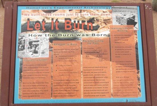Homolovi Ruins State Park : Let it burn.