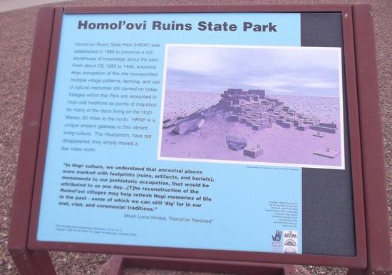 Homolovi Ruins State Park: Un peu d'histoire.