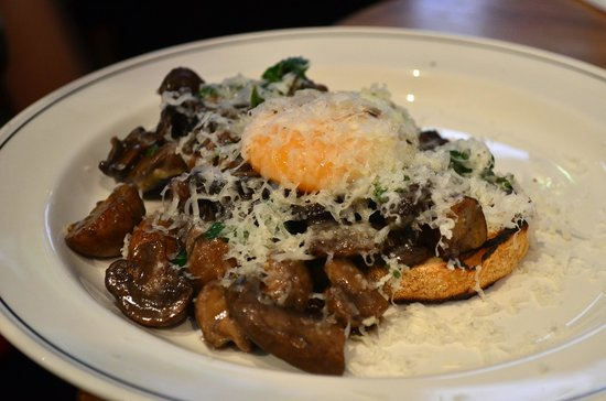 Cumulus Inc. : Mushrooms on toast with Parmesan and 65/65 egg